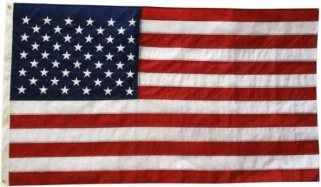 Flags Unlimited U.S. Nylon US Flag 3X5 ft- Embroidered Stars