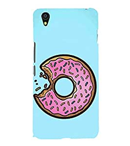 Doughnut Bite 3D Hard Polycarbonate Designer Back Case Cover for OnePlus X :: One Plus X :: One+X