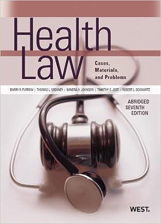Health Law (American Casebook Series)