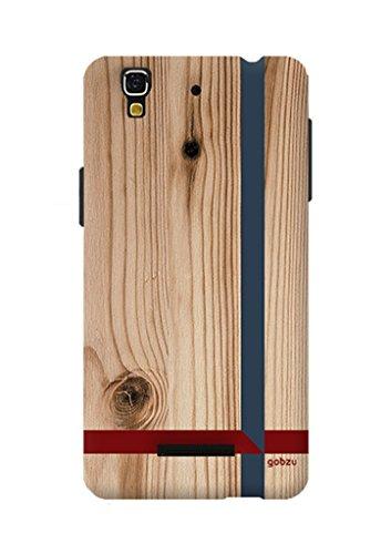Gobzu Printed Back Covers for Micromax YU Yureka Plus - Wooden Crossroads