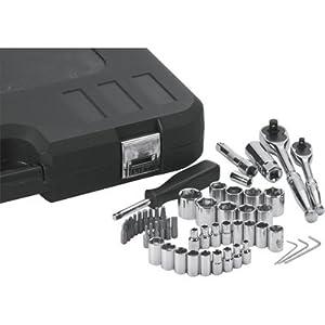 Klutch Mechanic's Socket Set - 50-Pc., 1/4in. & 3/8in. Drive