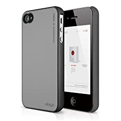 elago S4 Slim Fit 2 Case for iPhone 4/4S - Semigloss Metalic Dark Gray + HD Professional Extreme Clear film