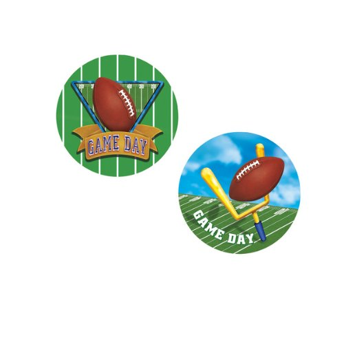 Game Day Football Coasters (asstd designs) Party Accessory  (1 count) (8/Pkg)