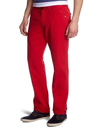 Hilfiger Denim - Pantalon - Uni - Homme - Rouge (Tango Red) - W33/L34