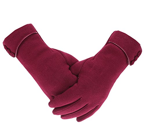 c5731971832 Knolee Women s Screen Gloves Warm Lined Thick Touch Warmer Winter Gloves