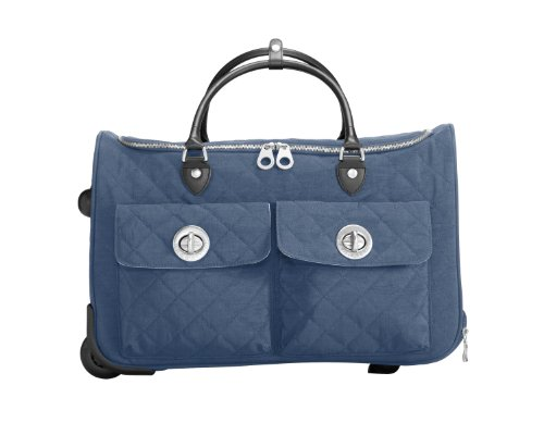 Baggallini Luggage Rome Quilted Rolling Tote