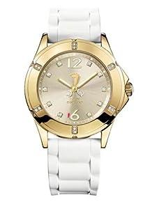Juicy Couture - Reloj de pulsera mujer, acero inoxidable, color plateado