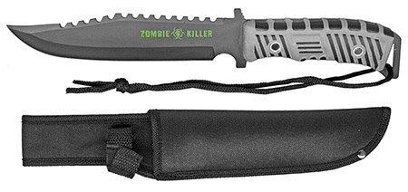 "13"" Zombie Killer Hunting Knife - Gray Handle"
