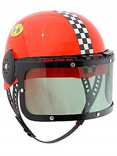 Kids Plastic Racing Helmet Red
