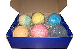 Boys Bath Bombs Set - 6 Large (5 oz) Lush Bath Bombs for Kids - Fruity, Fizzy Fun! - BOY-APPROVED - Handmade in the USA - Bath Fizzies - FIZZ POP POW!