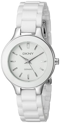 DKNY Ceramic Bracelet Mother-of-pearl Dial Women's watch #NY4886