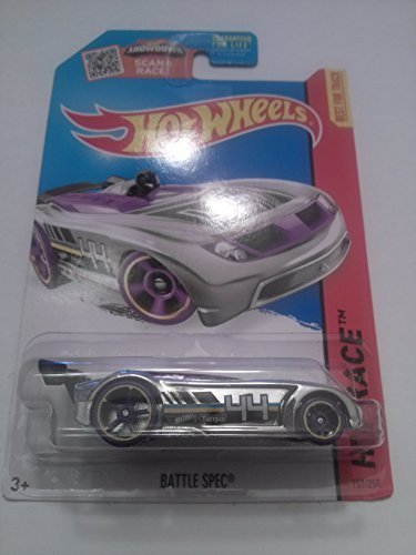 Hot Wheels, 2015 HW Race, Battle Spec [Chrome] Die-Cast Vehicle #157/250
