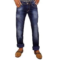 Hasasi Denim Men's Regular Fit Jeans - IBU30054-Jeans-Blue-30