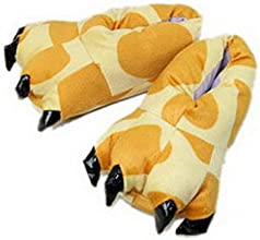 Bigood Cute Soft Plush Indoor Home Slipper Cartoon Thicken Paw Claw Shoes