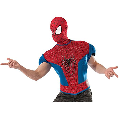Amazing Spider-Man Adult Muscle Shirt and Mask