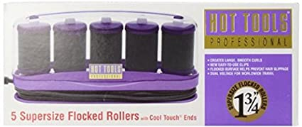 Hot-Tools-HT1357-5-Professional-Supersize-Flocked-Rollers-with-Cool-Touch-Ends,-1-3/4-Inches