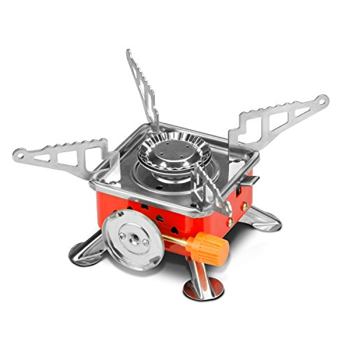 Etekcity e gear portable collapsible outdoor backpacking Propane stove left on overnight