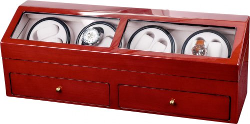 Auer Accessories Helios 624C Watch Winder For 8 Watches Cherry