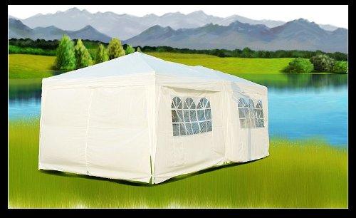 Aosom 10' x 20' Easy Set Pop Up Party Wedding Tent Canopy Gazebo- White