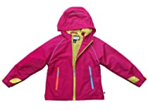 Rothschild Girls Toddlers Day Glow Hooded Windbreaker Jacket - Pop Pink (Size 5/6)