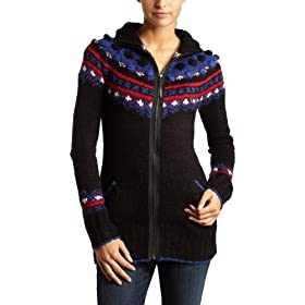 Kensie Women's Huggable Knit Zip Cardigan