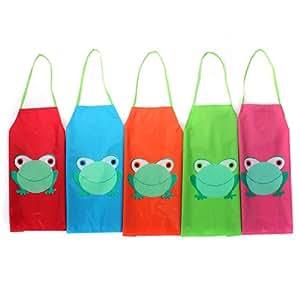 Tablier Enfant Cuisine Blouse Ecole Maternelle Peinture PVC Imperméable Mignon