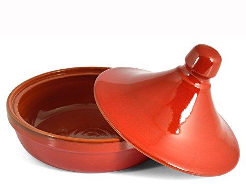 Antica Bottega Incoronato 29786008 Tajine en céramique rouge, 26cm