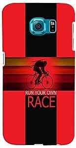 PrintVisa 3D-SGS6EDGEPLUS-D8098 Sports Race Case Cover for Samsung Galaxy S6 Edge+