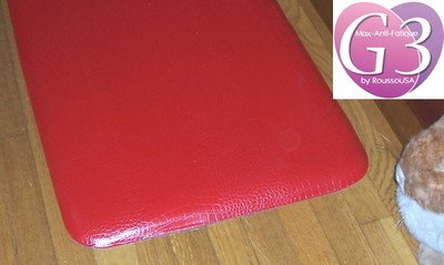 The Next Generation Kitchen Mat With An Attractive Red Reptile Cover Over  Rubberized Gel Foam Standard Thickness New Edges