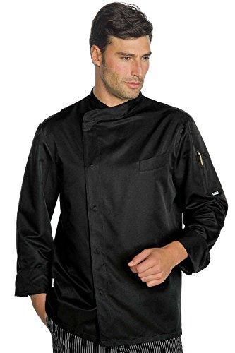 Isacco veste cuisinier bilbao noir polycoton for Cuisinier basque