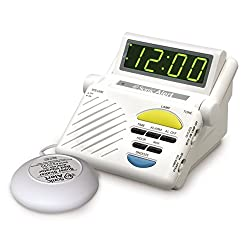 Sonic Alert SB1000ss Sonic Boom Loud Alarm Clock with Built in Receiver and Bed Shaker