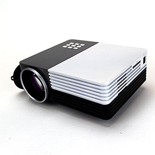 LELEC GM-50 Mini Portable HD LED Projector UK STOCK 1080P Home Cinema Theater VGA USB AV HDMI SD