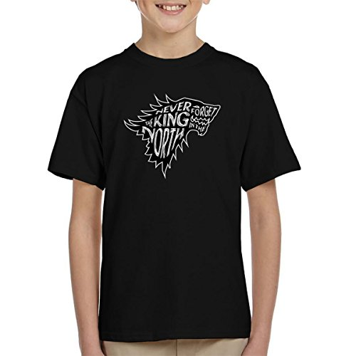 The North Never Forgets The King In The North Game Of Thrones Kid's T-Shirt