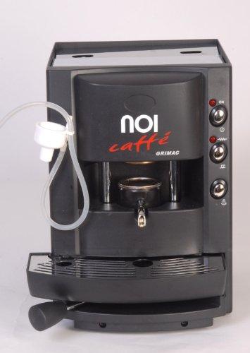 Nuvola Espresso Pod Machine W/milk Frother. Black. Pod E.S.E.
