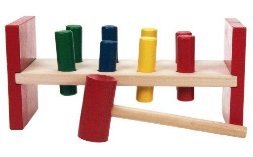 Wooden Toys - Banco con martillo y piezas de madera