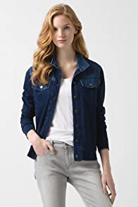 Denim And Sweatshirt Indigo Jacket