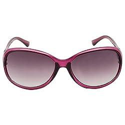 Eyeland Non-Polarized Oval Sunglasses (Violet, EYE169)
