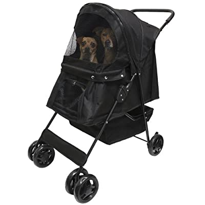 OxGord® Pet Stroller Cat / Dog Easy Walk Folding Travel Carrier Carriage - 2015 Newly Designed Model