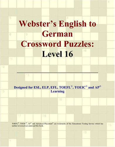 Webster's English to German Crossword Puzzles: Level 16