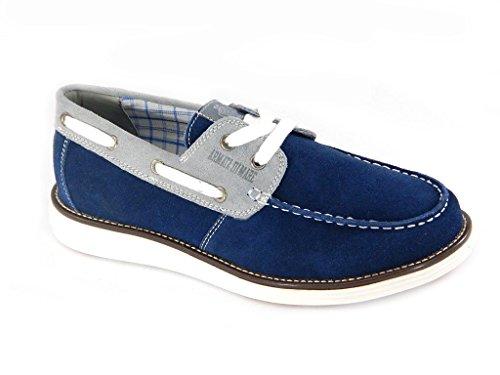 Armata di mare Mocassini uomo blu grigio scarpe da barca 40109.TG.42