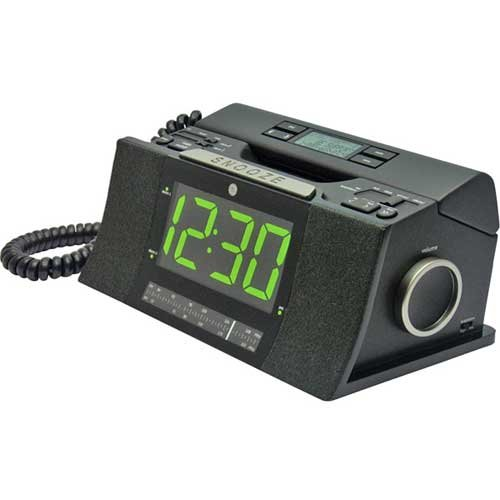 cordless phone clock radio check out ge 29298fe1 corded bedroom phone with cid radio alarm. Black Bedroom Furniture Sets. Home Design Ideas