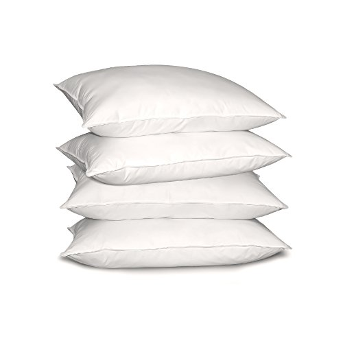 Blue Ridge Home Fashion 233 Thread Count Cotton Gusseted Optima-Loft Down Alternative Pillow (4 Pack), Jumbo, White (Blue Ridge Home Fashions Inc compare prices)