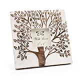 Tree Of Life White Wash 3 X 3 Photo Frame