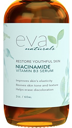 Vitamin B3 5% Niacinamide Serum by Eva Naturals (2 oz) - Niacinamide Benefits Skin with Incredible Anti-Aging and Reduces Appearance of Wrinkles, Acne and Discoloration - With Hyaluronic Acid and Aloe (Formula 3 Antifungal Professional compare prices)