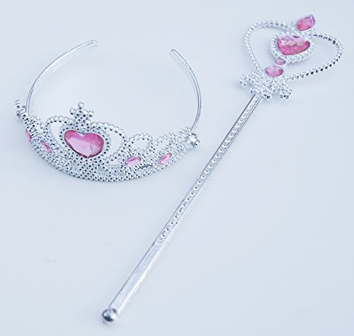 Girls' Princess Dress Up Set - Tiara and Scepter - 1