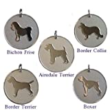 Personalised Dog Pet Identity ID Tag Disc Engraved.......TO LEAVE ENGRAVING DETAILS PLEASE READ PRODUCT DESCRIPTION LOWER DOWN THIS PAGE.by County Engraving