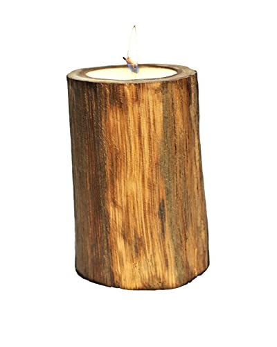 Volcanica Medium Wood Pillar Candle