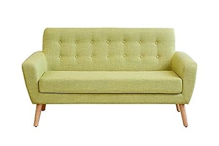 MY-Furniture - SEXTON - Sofa de dos plazas de color verde retro