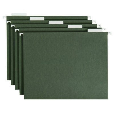 SMEAD Hanging Folders Green, Letter Size - 50ct