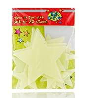 Kids Corner 20 Glow In The Dark Stars